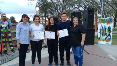 Jornada recreativa en la plaza
